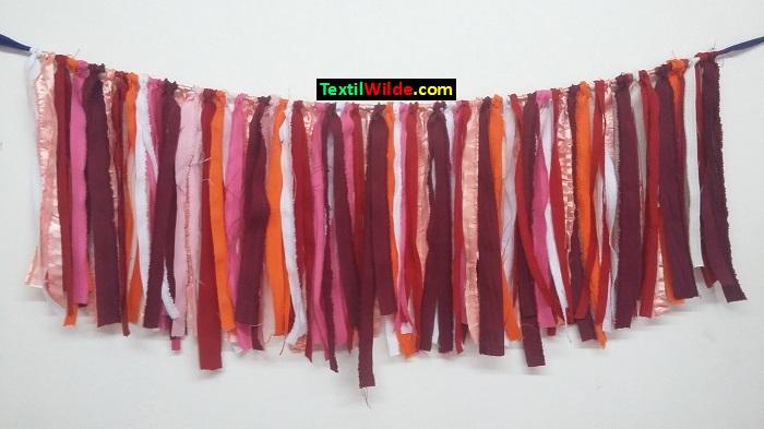 Guirnaldas de tela tiritas de tela rustica - Guirnaldas de tela ...